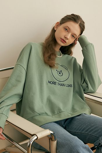BEAR LOGO SWEAT SHIRT - MINT