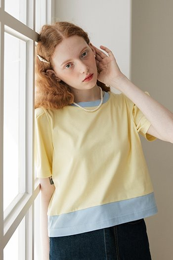 PUFF SHORT SLEEVE T-SHIRT - YELLOW